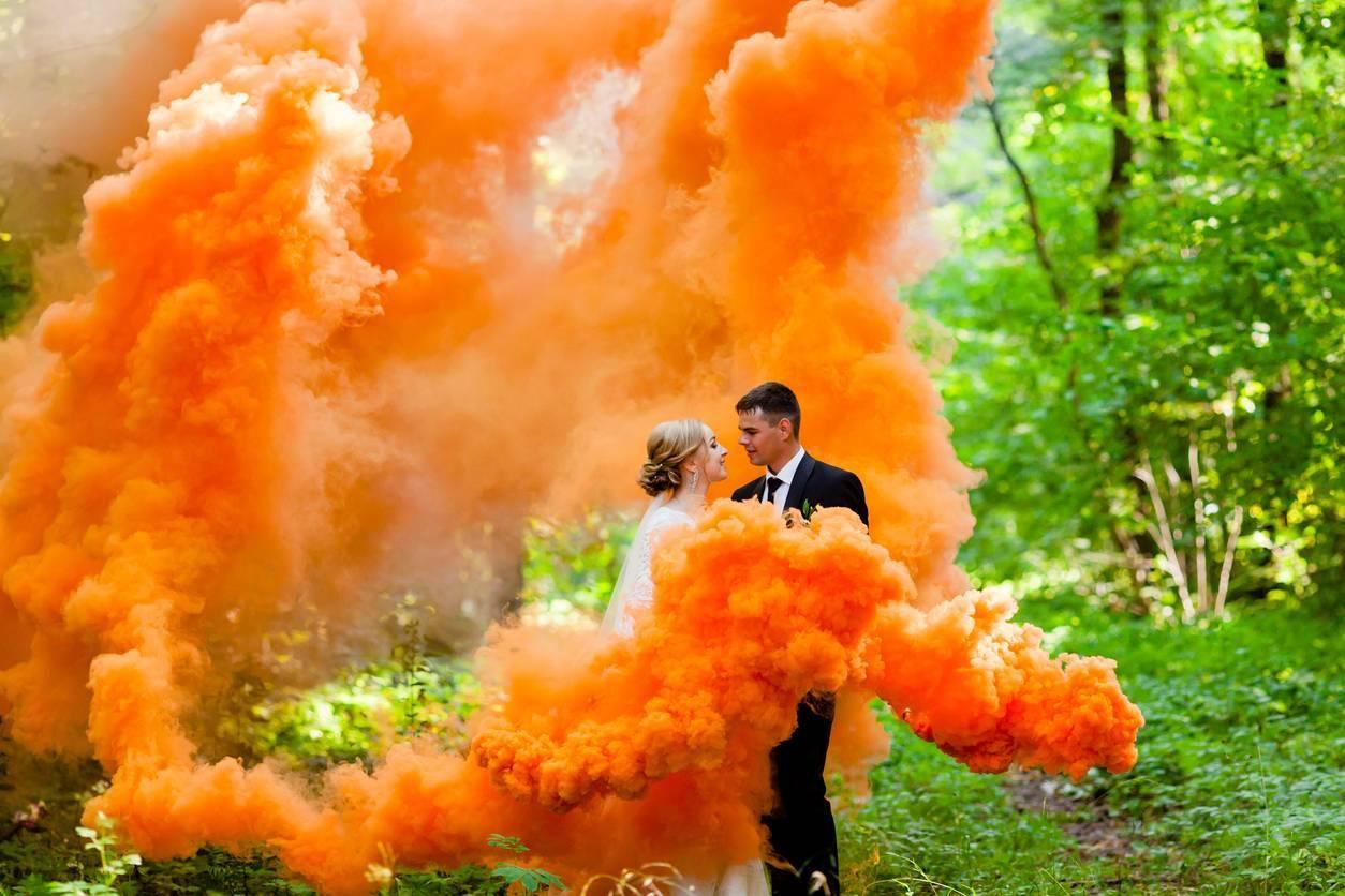 mariage fumigène